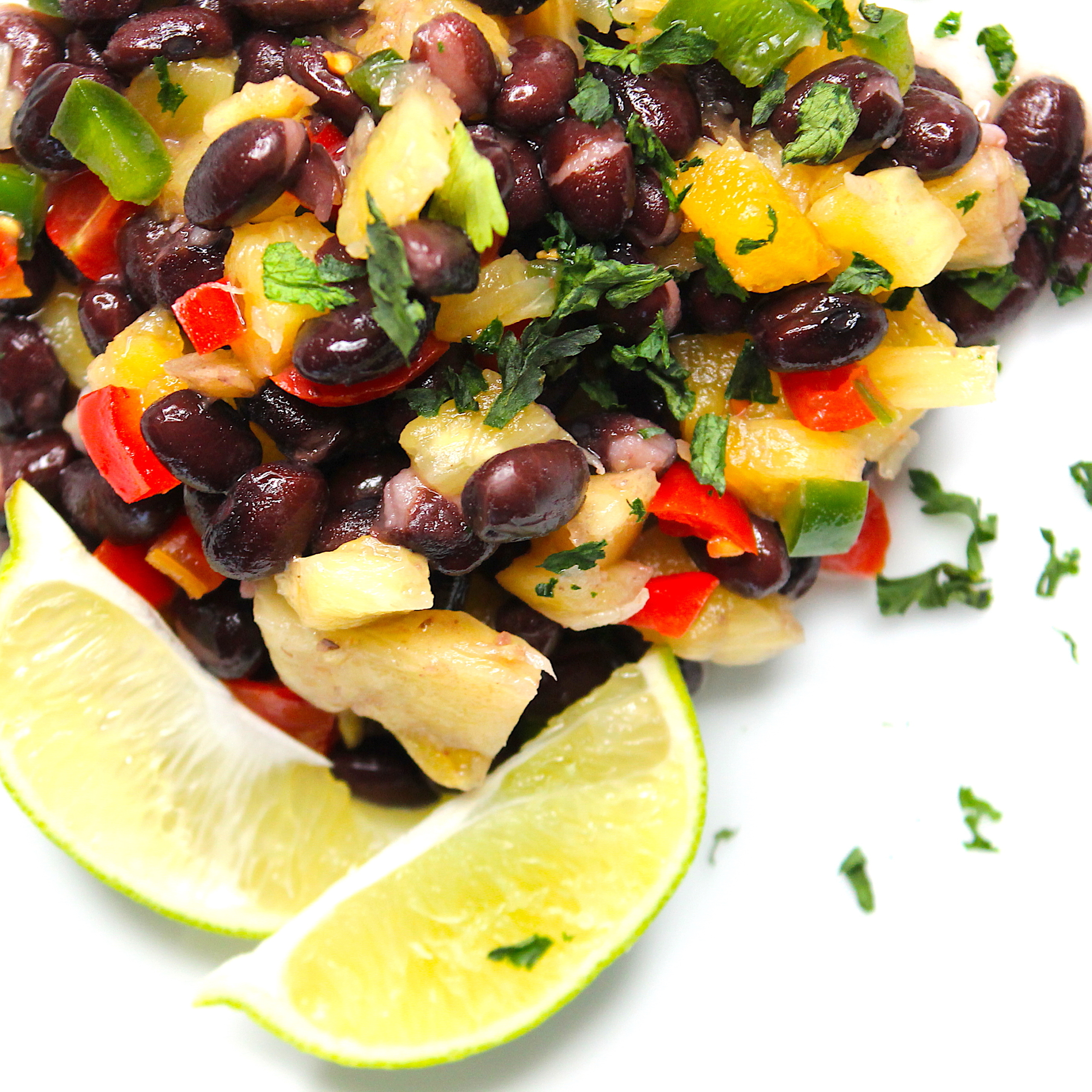 Black Bean Salsa with Pineapple and Jalapenõ